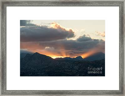 Ronda Sunset Framed Print by Rod Jones