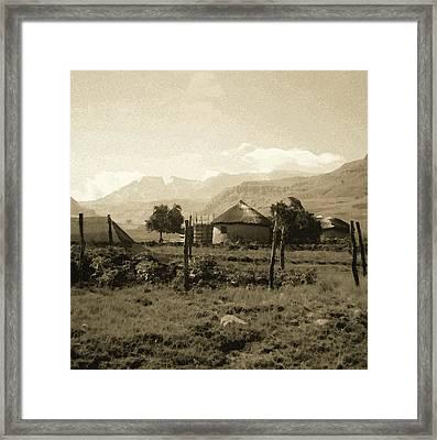 Rondavel In The Drakensburg Framed Print