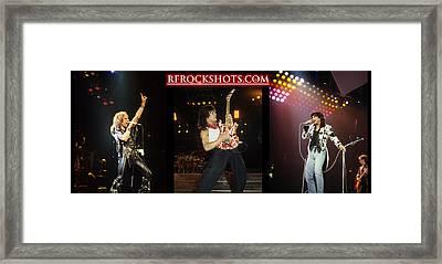Ronnie James Dio, Eddie Van Halen And Steve Perry Framed Print by Rich Fuscia