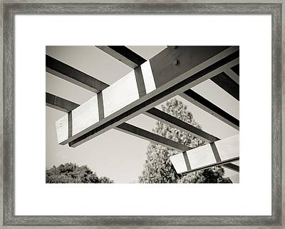 Roof Beams Framed Print by Edward Myers
