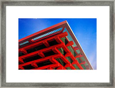Roof Corner - Expo China Pavilion Shanghai Framed Print