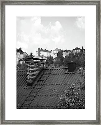Roof Framed Print by Tapio Koivula