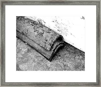 Roof Tiles - Sao Miguel - Azores Framed Print by Henry Krauzyk