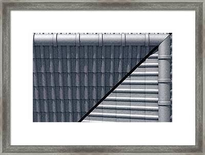Roof Tiles Design Top Framed Print