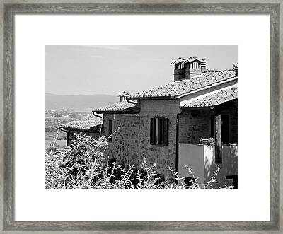 Roofs With A View Framed Print