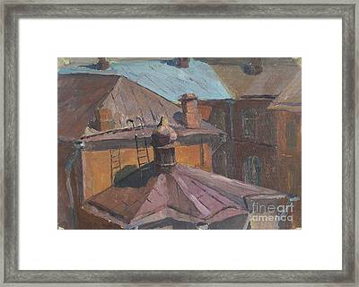 Roofs Framed Print by Andrey Soldatenko