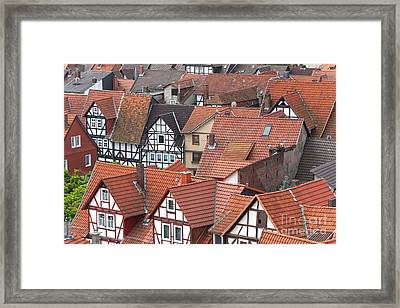 Roofs Of Bad Sooden-allendorf Framed Print by Heiko Koehrer-Wagner