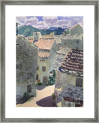 Roofs Of La Couvertoirade Framed Print