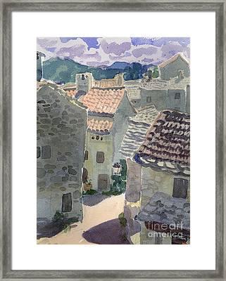 Roofs Of La Couvertoirade Framed Print