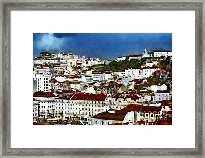 Framed Print featuring the photograph Roofs Of Lisbon by Dariusz Gudowicz