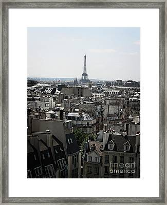 Roofs Of Paris. France Framed Print by Bernard Jaubert