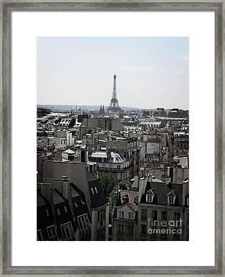 Roofs Of Paris. France Framed Print
