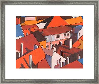 Roofs Of Prague Framed Print