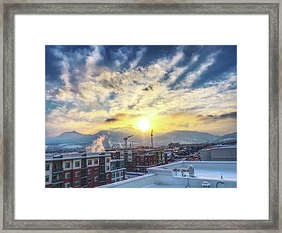Rooftop In Boulder, Co Framed Print by David Goudy
