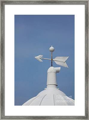 Rooftop Of Lighthouse Framed Print by Gabriela Insuratelu