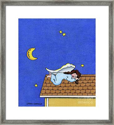Rooftop Sleeper Framed Print