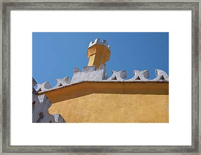 Rooftop Study Of Pena Palace -sintra, Portugal Framed Print by Connie Sue White