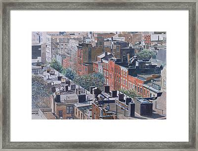Rooftops Greenwich Village Framed Print by Anthony Butera
