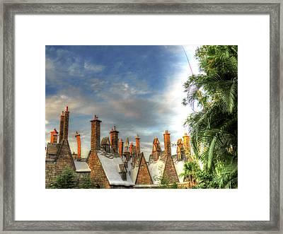 rooftops Hogsmeade Framed Print by Tom Prendergast