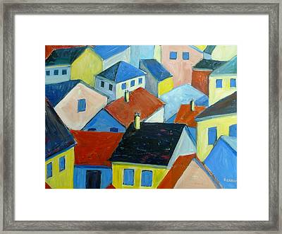 Rooftops In France Framed Print