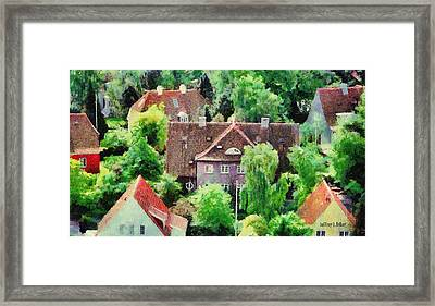 Rooftops Framed Print by Jeff Kolker