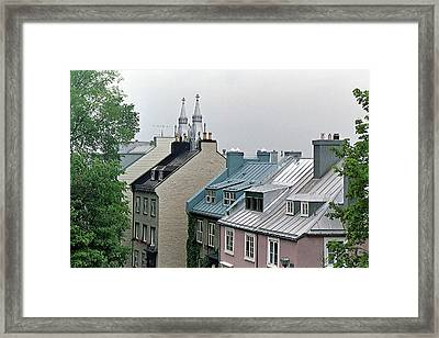 Framed Print featuring the photograph Rooftops by John Schneider