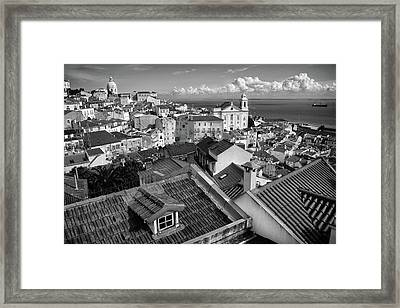 Rooftops Of Alfama In Lisbon Framed Print by Carlos Caetano