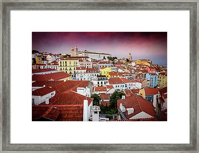 Rooftops Of Alfama Lisbon  Framed Print