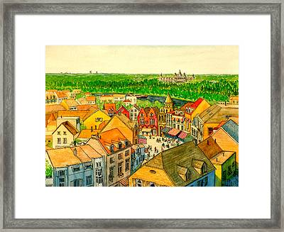 Rooftops Of Holland Framed Print
