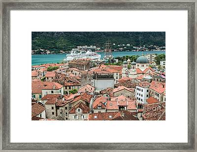 Rooftops Of Kotor  Framed Print