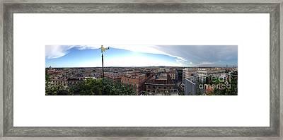 Rooftops Of Rome Framed Print