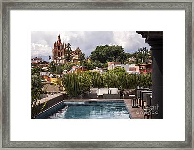 Rooftops Of San Miguel Mexico Framed Print by Juli Scalzi