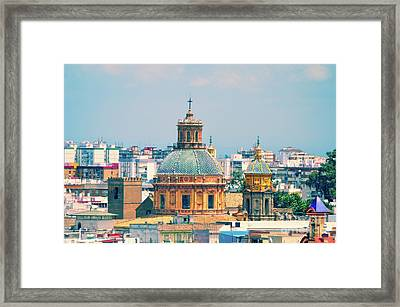 Rooftops Of Seville - 1 Framed Print by Mary Machare