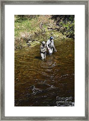 Rookie's 1st  Brookie Framed Print by Skip Willits