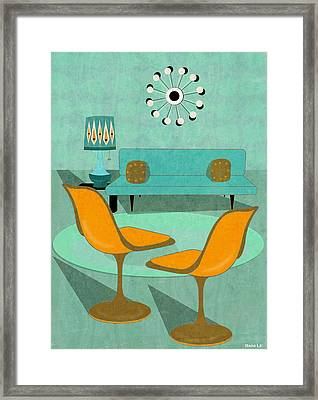 Room For Conversation Framed Print by Little Bunny Sunshine
