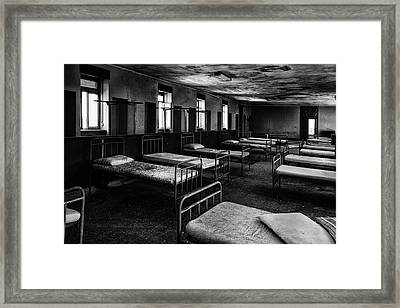 Room Of Nightmares - Abandoned School Building Framed Print by Dirk Ercken