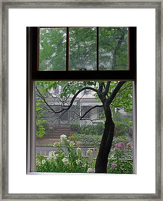 Room With A Rainy View Framed Print