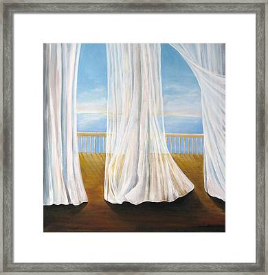 Room With A View Framed Print by Eileen Kasprick
