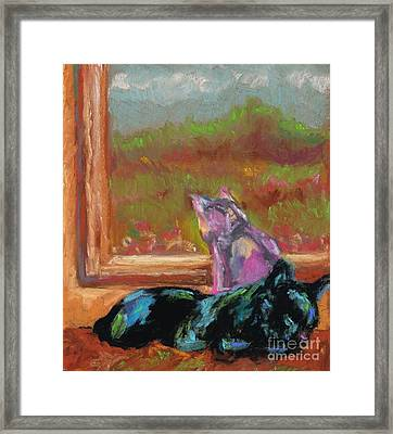 Room With A View Framed Print by Frances Marino