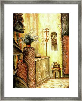 Room With A View Framed Print by Marcella Muhammad