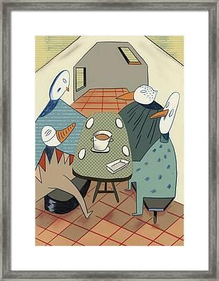 Roommates Framed Print by Benjamin Gottwald