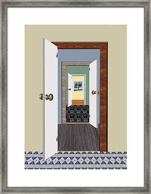 Rooms With A View Framed Print by Elaine Plesser