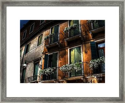 Rooms With A View Framed Print by Lois Bryan