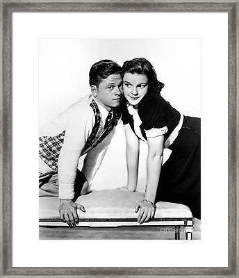 Rooney And Garland, 1938 Framed Print
