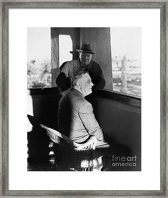 Roosevelt And Churchill Framed Print