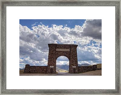 Roosevelt Arch Framed Print