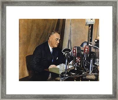 Roosevelt: Fireside Chat Framed Print by Granger
