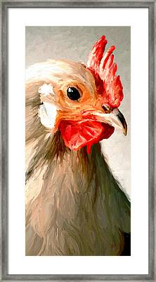 Framed Print featuring the digital art Rooster 2 by James Shepherd