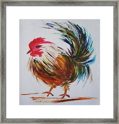 Rooster  Framed Print by Art Spectrum