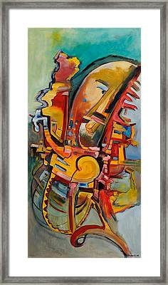 Rooster In A Mexican Dream Framed Print by Robert James Hacunda